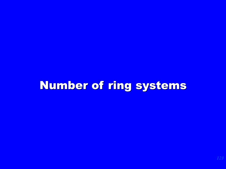 123 Number of ring systems