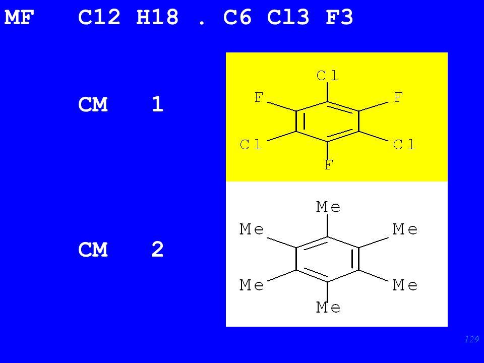 129 MF C12 H18. C6 Cl3 F3 CM 1 CM 2