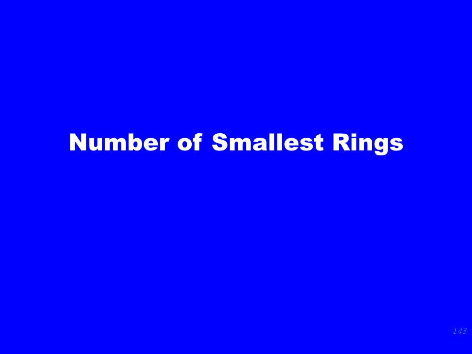 143 Number of Smallest Rings
