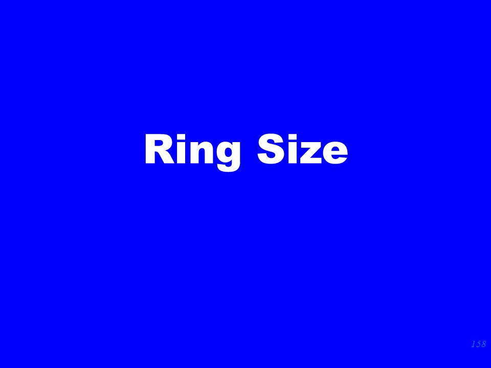 158 Ring Size