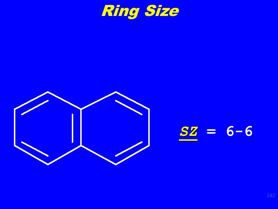 162 SZ SZ = 6-6 Ring Size