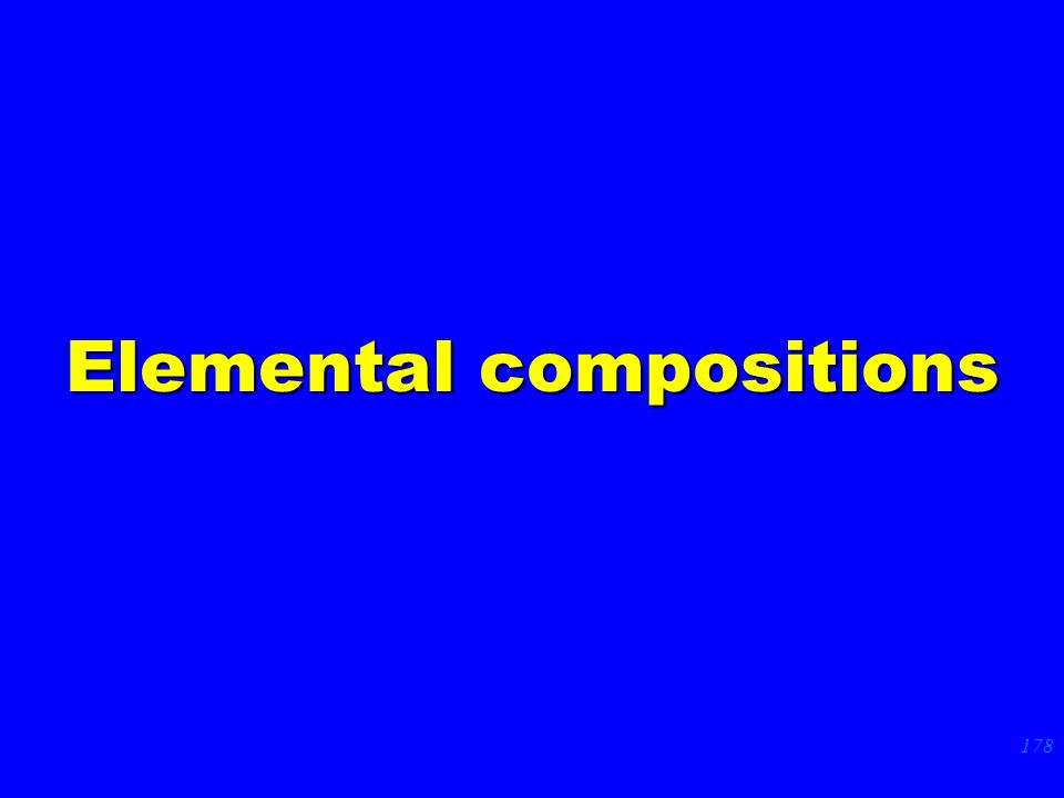 178 Elemental compositions