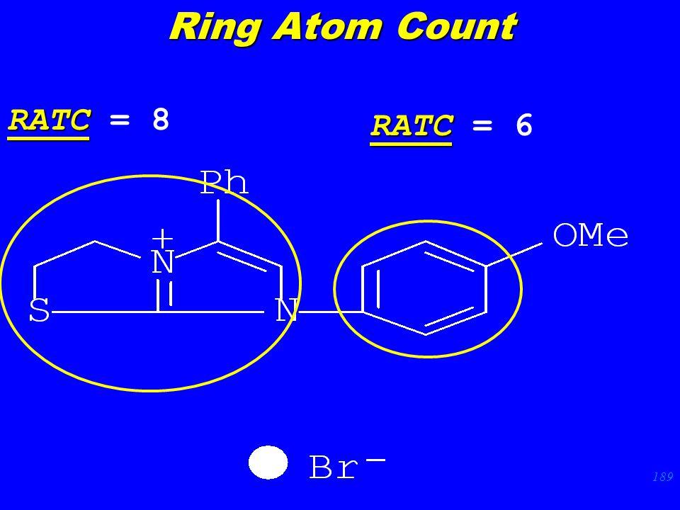 189 RATC RATC = 8 RATC RATC = 6 Ring Atom Count