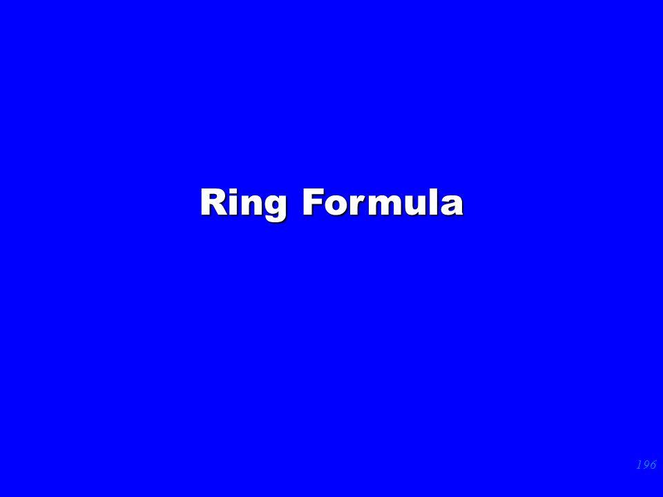 196 Ring Formula