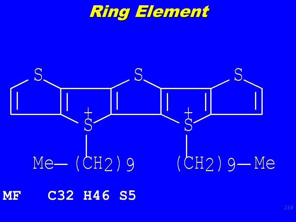 216 MF C32 H46 S5 Ring Element