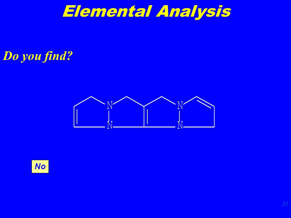 55 Elemental Analysis Do you find No