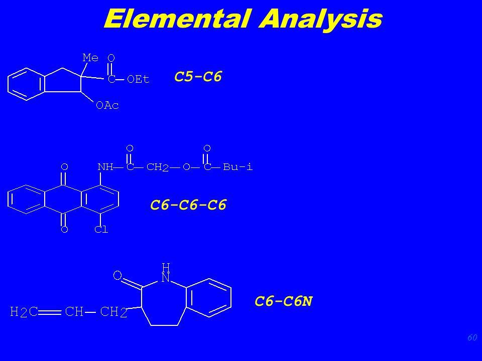 60 Elemental Analysis C5-C6 C6-C6-C6 C6-C6N