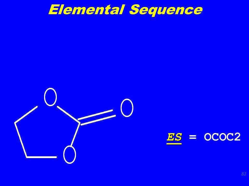 81 ES ES = OCOC2 Elemental Sequence