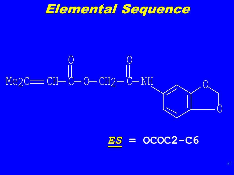 82 ES ES = OCOC2-C6 Elemental Sequence