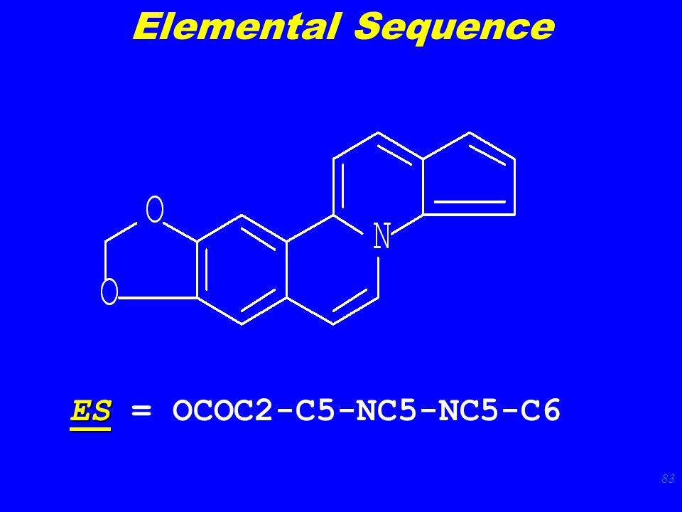 83 ES ES = OCOC2-C5-NC5-NC5-C6 Elemental Sequence