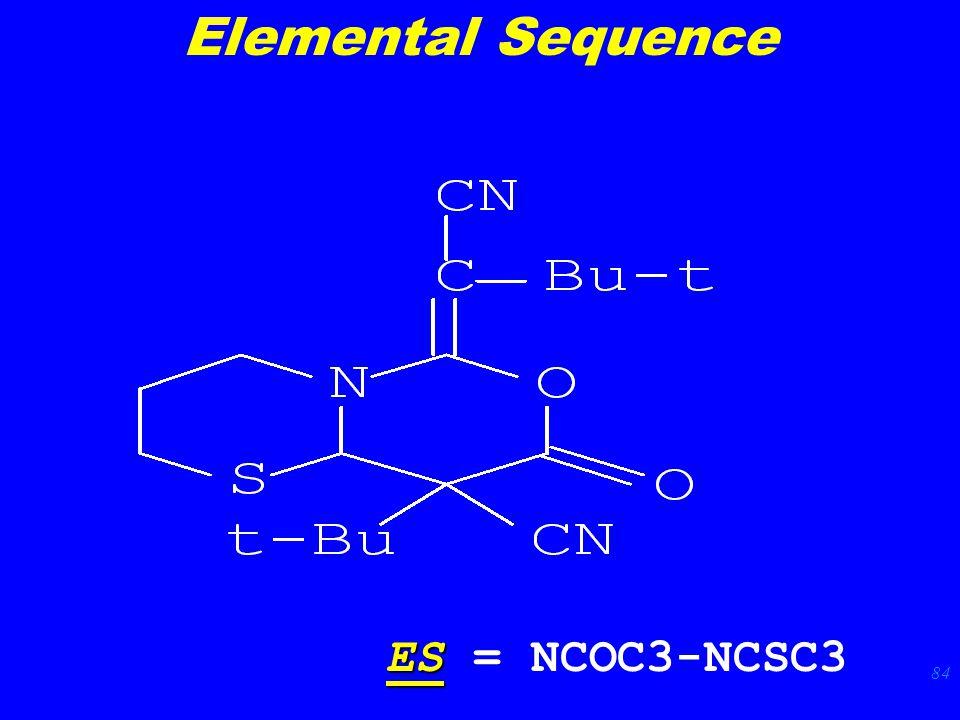 84 ES ES = NCOC3-NCSC3 Elemental Sequence
