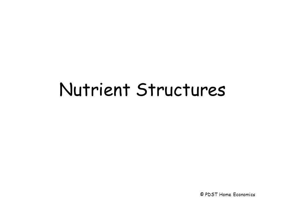 Nutrient Structures © PDST Home Economics