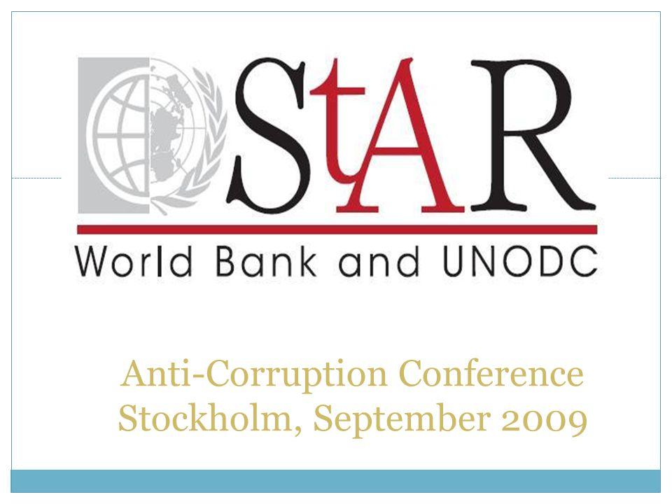 1 Anti-Corruption Conference Stockholm, September 2009