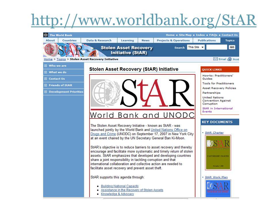 8 http://www.worldbank.org/StAR
