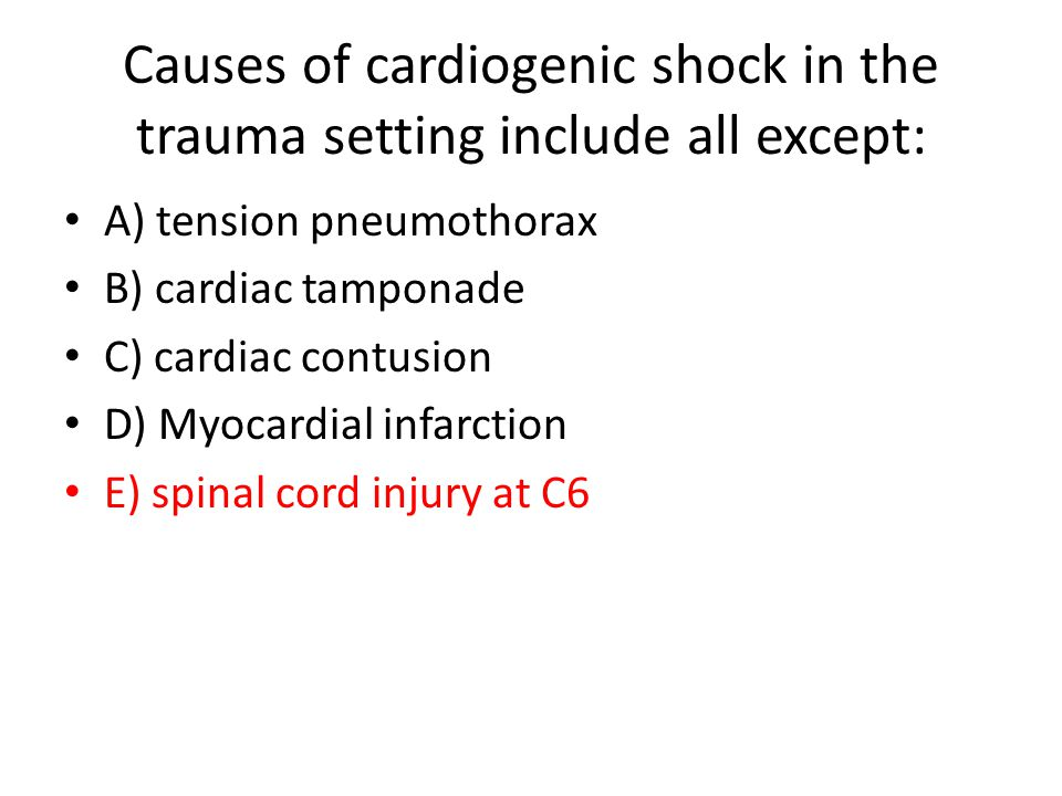 Following head-on collision, hypotension, JVD and absent breath sounds on right – most consistent with A) cardiac tamponade B) massive hemothorax C) tension pneumothorax D) blunt cardiac injury E) blunt aortic injury