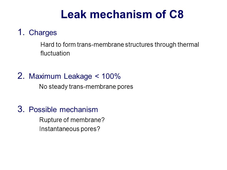 Leak mechanism of C8 1.
