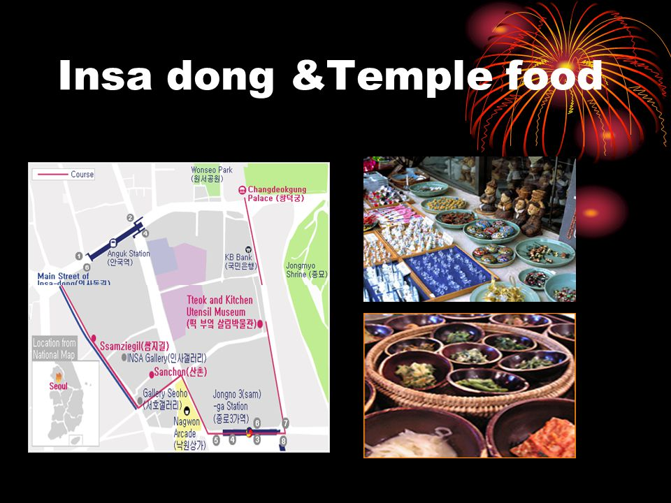 Insa dong &Temple food