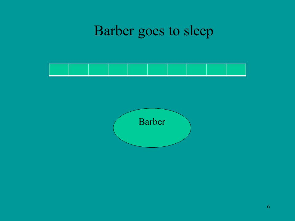 6 Barber Barber goes to sleep