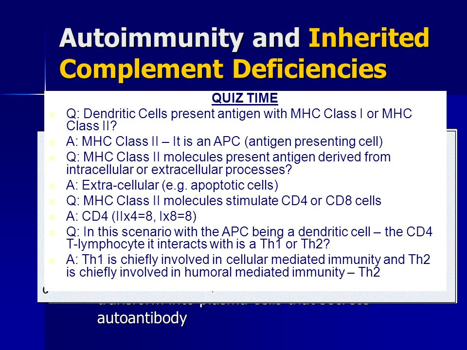 Autoimmunity and Inherited Complement Deficiencies How does SLE form with complement deficiencies.