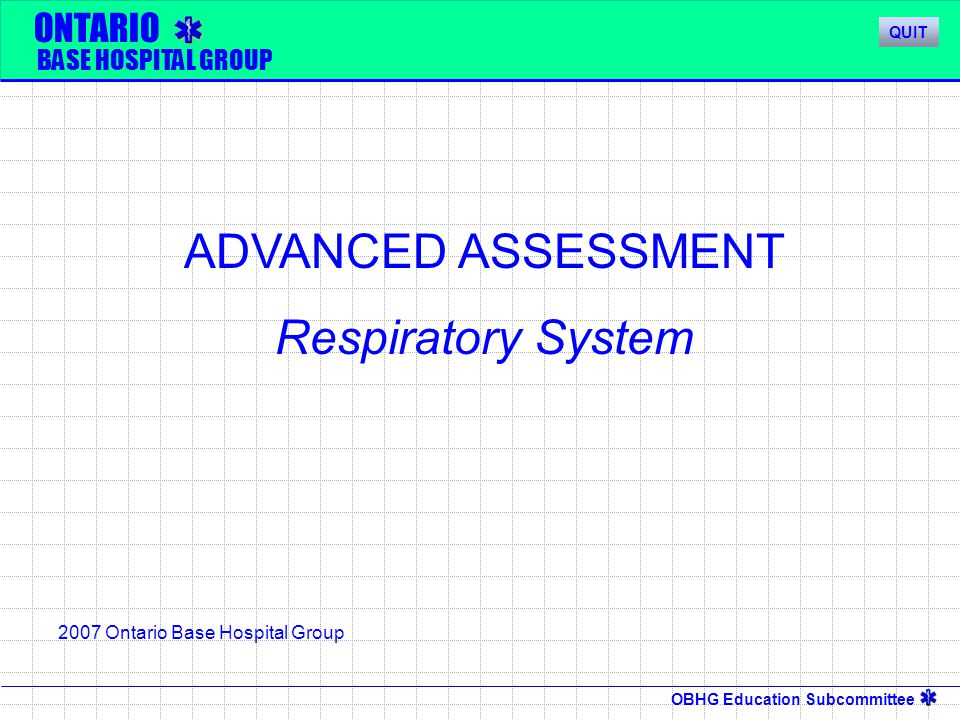 OBHG Education Subcommittee Common Respiratory Illnesses  Asthma – Disease of the Upper airway,resulting in constriction, which is heard as Wheezing.