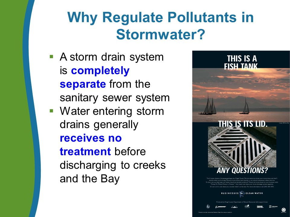Why Regulate Pollutants in Stormwater.