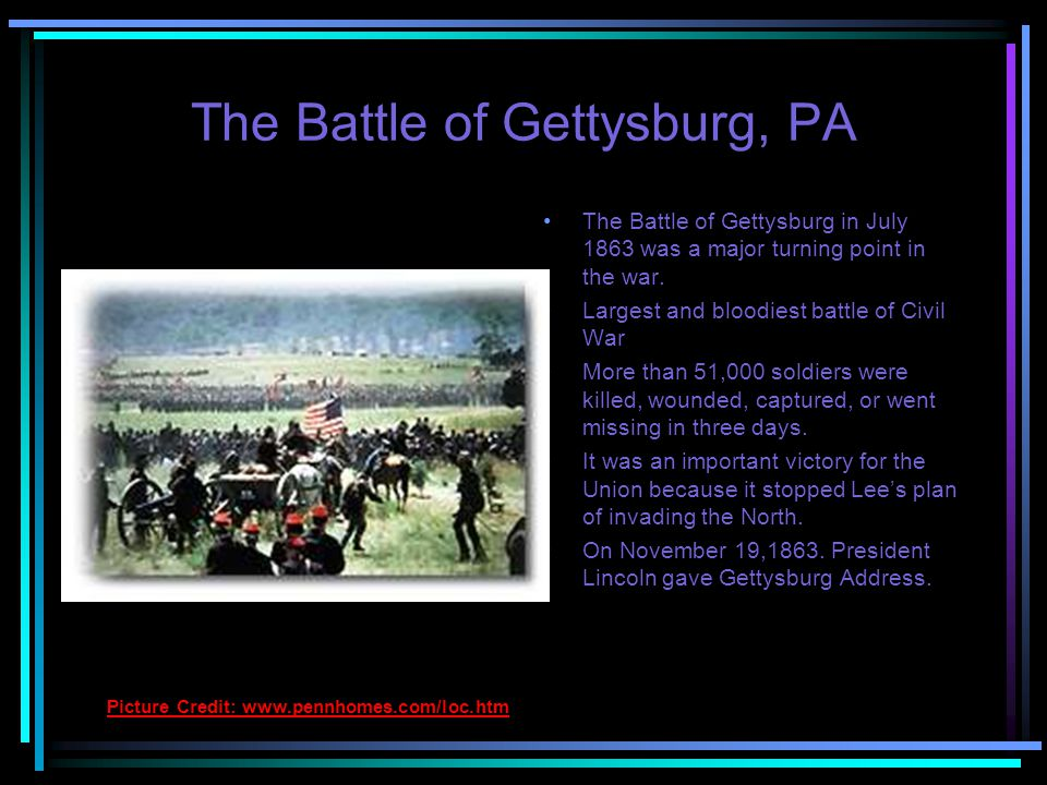 The Battle of Antietam gave the North a slight advantage.