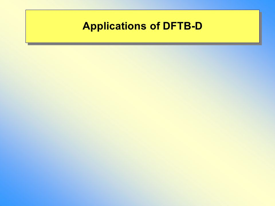 Applications of DFTB-D
