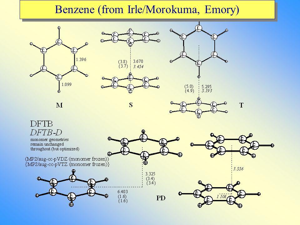 Benzene (from Irle/Morokuma, Emory)