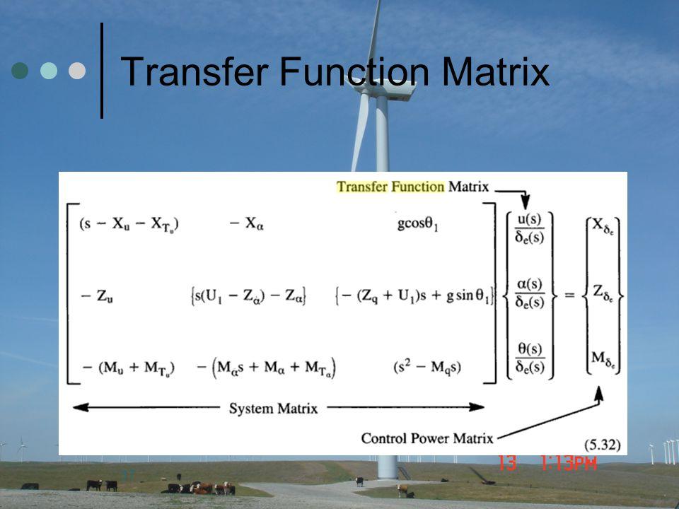 37 Transfer Function Matrix