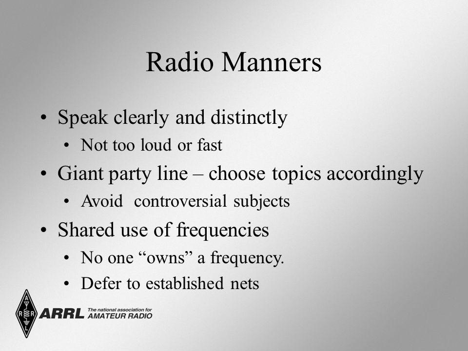 Radio Manners Use of phonetics.