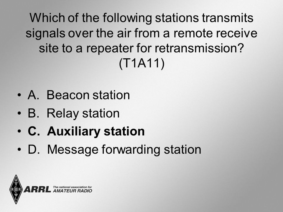 Which of the following stations transmits signals over the air from a remote receive site to a repeater for retransmission.