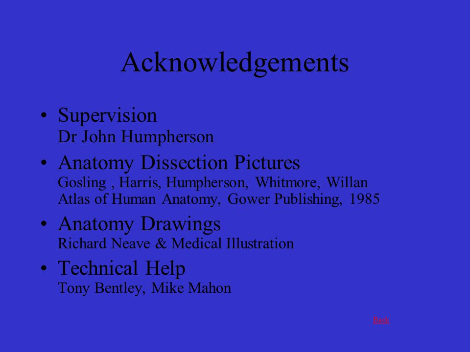 Supervision Dr John Humpherson Anatomy Dissection Pictures Gosling, Harris, Humpherson, Whitmore, Willan Atlas of Human Anatomy, Gower Publishing, 198