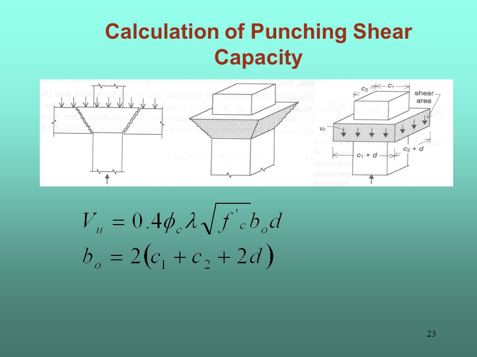 22 Calculation of Flexural strength