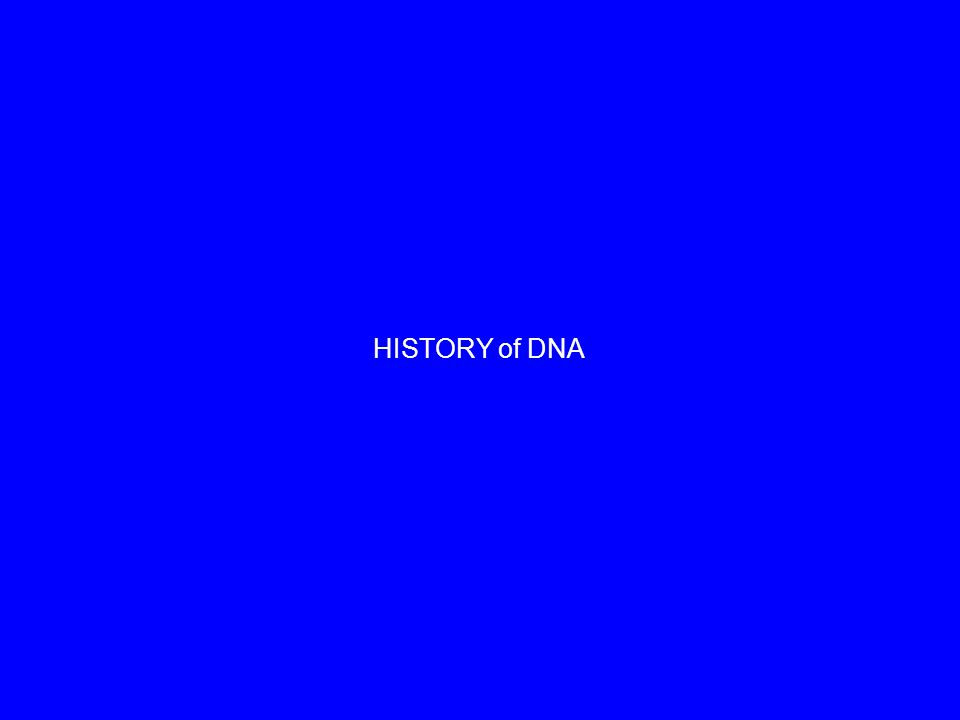 HISTORY of DNA