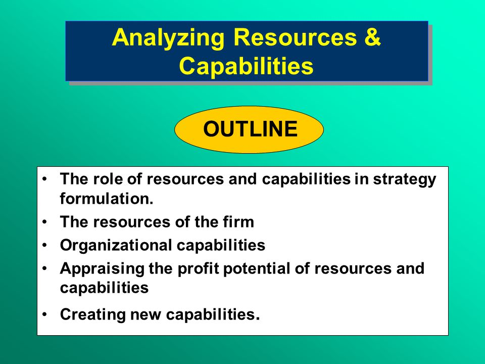 THE FIRM Goals and Values Resources and Capabilities Structure and Systems THE INDUSTRY ENVIRONMENT Competitors Customers Suppliers STRATEGY The Firm-Strategy Interface The Environment-Strategy Interface Shifting the Focus of Strategy Analysis: From the External to the Internal Environment Shifting the Focus of Strategy Analysis: From the External to the Internal Environment