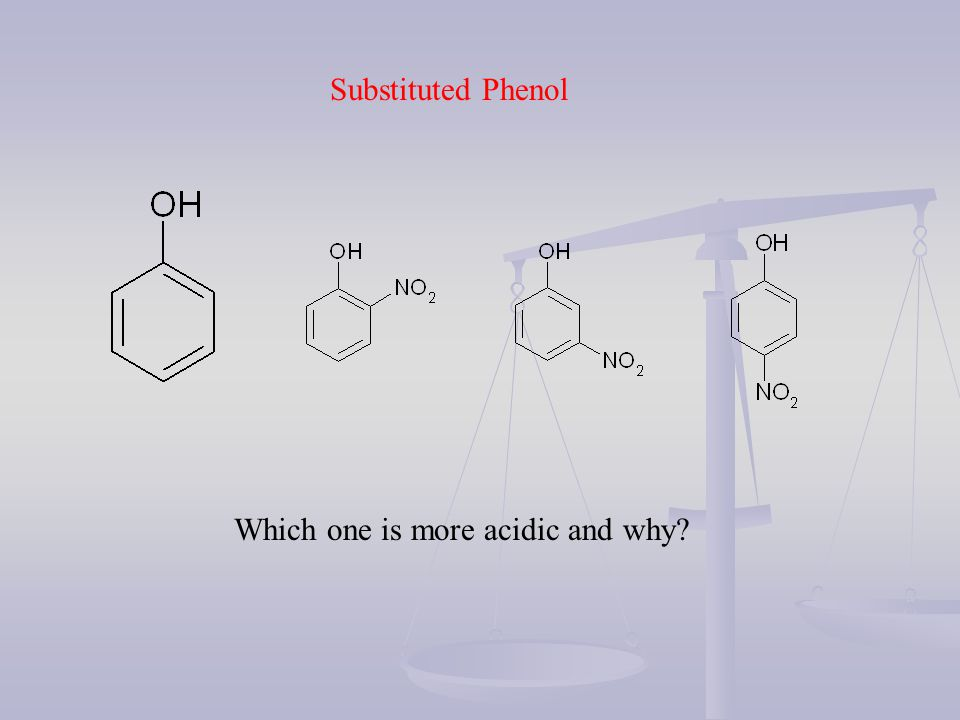Which one is more acidic and why? Substituted Phenol