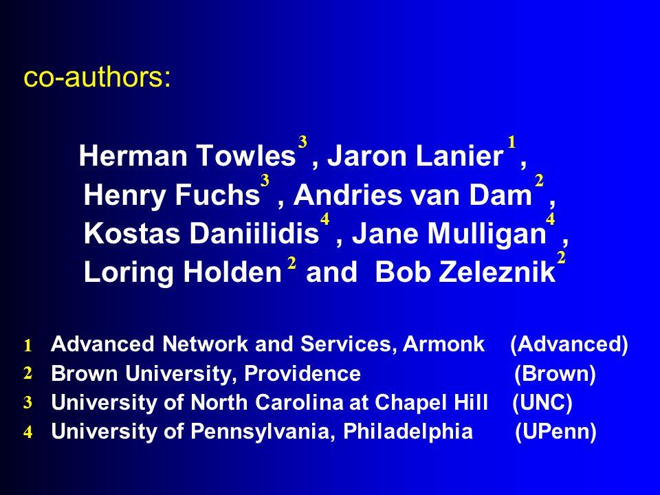 NTII: a research consortium Sponsors: Advanced Network and Services National Science Foundation Partner Schools: Brown University, Providence University of North Carolina, Chapel Hill University of Pennsylvania, Philadelphia