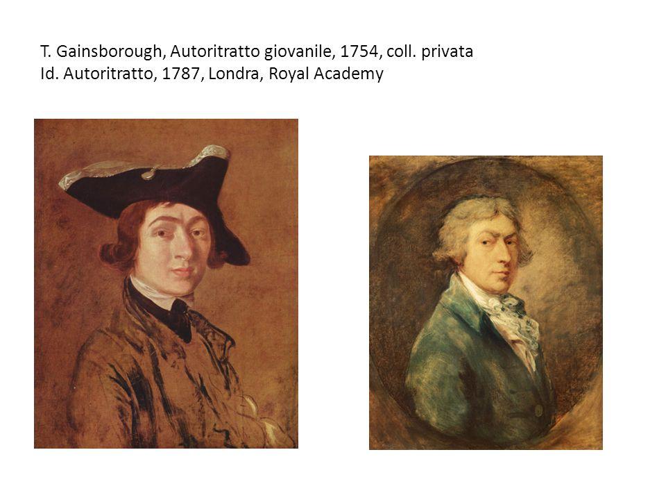T. Gainsborough, Autoritratto giovanile, 1754, coll.