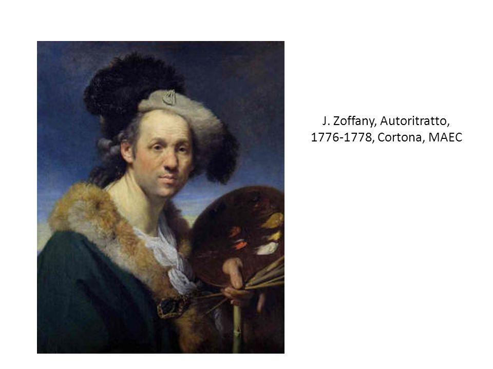 J. Zoffany, Autoritratto, 1776-1778, Cortona, MAEC