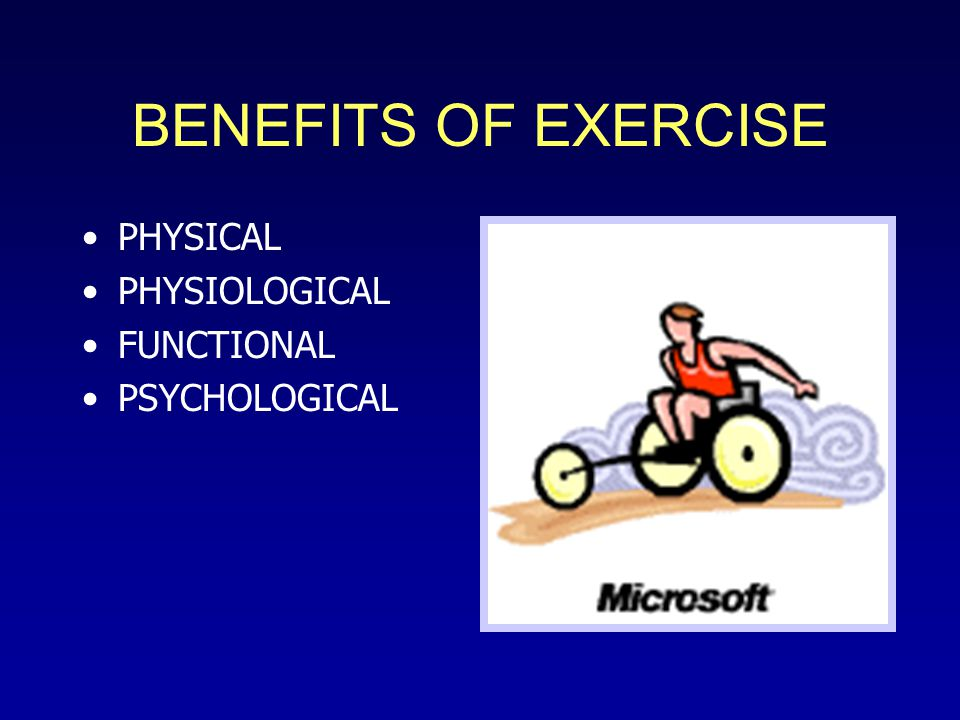 GUIDELINES FOR EXERCISE ACTIVITIES ACSM Guidelines for Able Bodied Absent Guidelines for SCI Population Modify & Adapt from NonDisabled Guidelines For Less Muscle Mass Training Principles Same –OverloadProgression –SpecificityConsistency