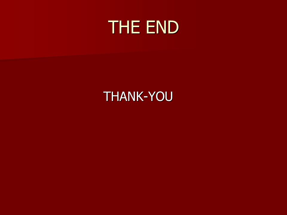 THE END THANK-YOU