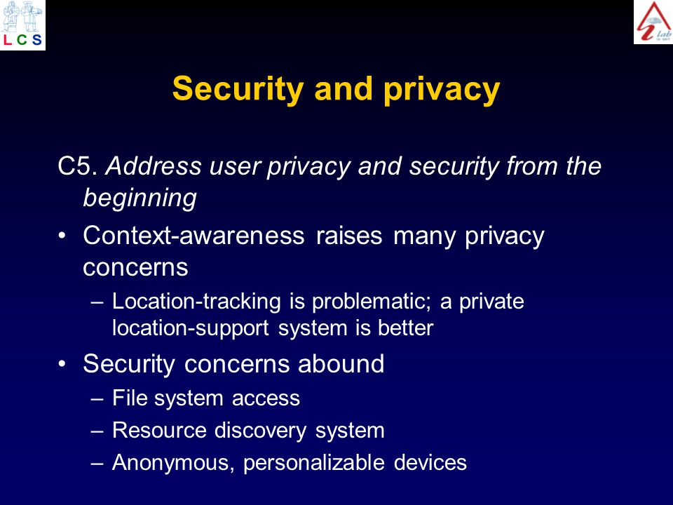 Security and privacy C5.