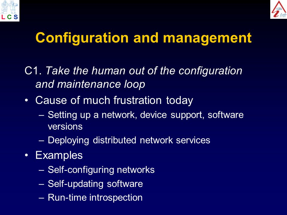 Configuration and management C1.