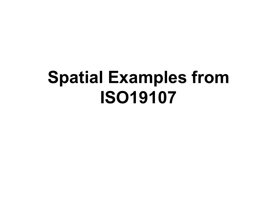 Spatial Examples from ISO19107