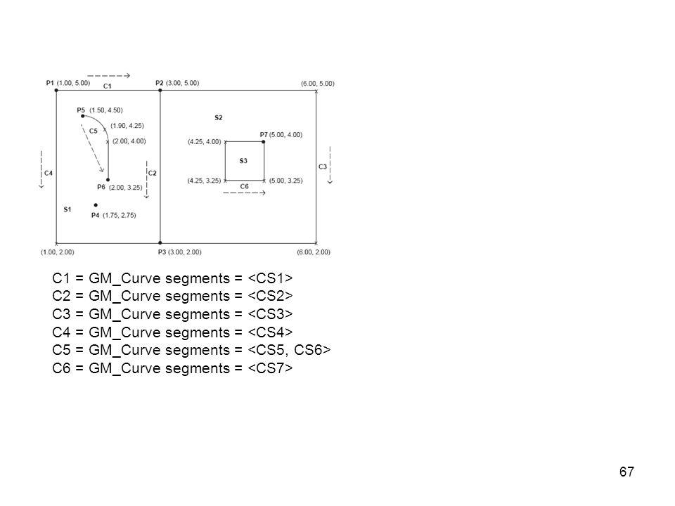 67 C1 = GM_Curve segments = C2 = GM_Curve segments = C3 = GM_Curve segments = C4 = GM_Curve segments = C5 = GM_Curve segments = C6 = GM_Curve segments =