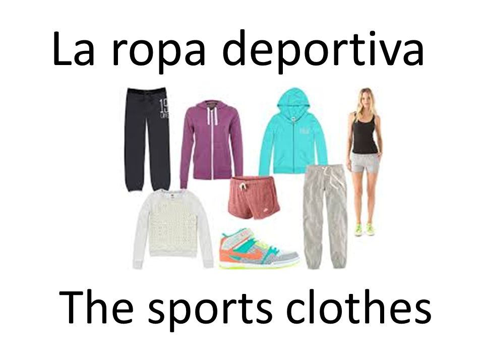 La ropa deportiva The sports clothes