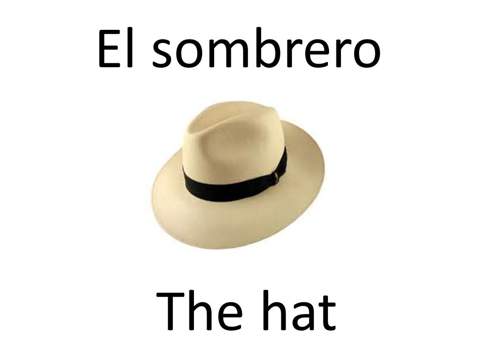 El sombrero The hat