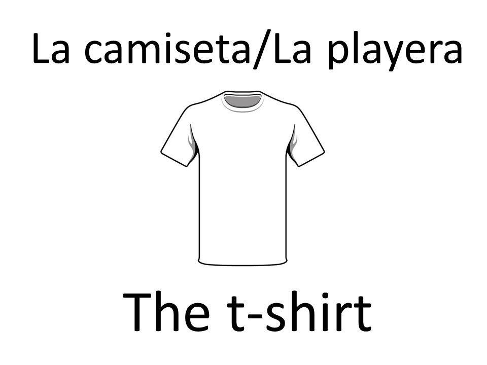 La camiseta/La playera The t-shirt