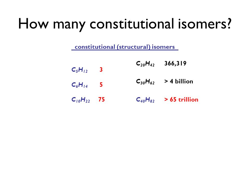 How many constitutional isomers.