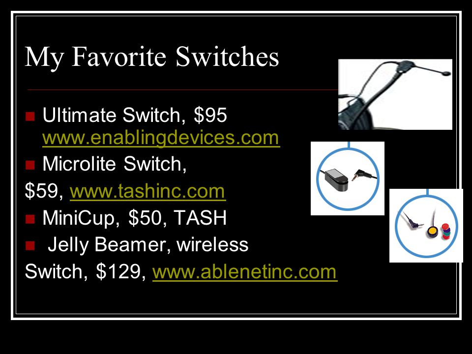 Ideas for Feature Matching with Switches: Varies with Clients.